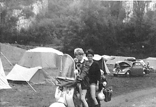 1963_arrived_at_the_lourdes_campsite_on_the_lamberetta
